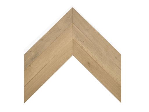 Tradition Classics Chevron Engineered Oak Flooring, Rustic, Smoked & Unfinished, 90x15x540 mm