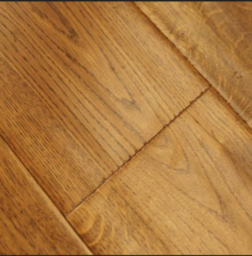 Chene Golden Oak Engineered Flooring, Handscraped, Lacquered, 190x3x14 mm