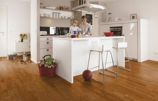 Boen Oak Toscana Engineered 3-Strip Flooring,  Live Matt Lacquered, 215x3x14 mm