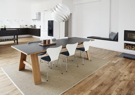 Junckers Solid Oak 2-Strip Flooring, Oiled, Variation, 129x14 mm