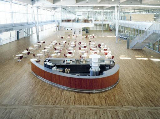 Junckers Solid Oak 2-Strip Flooring, Silk Matt Lacquered, Variation, 129x14 mm