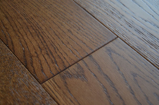 Tradition Brown Oak Engineered Flooring, Rustic, Brushed Lacquered, 127x10x1200 mm