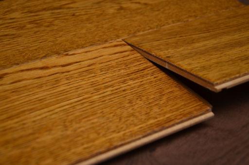 Tradition Golden Oak Engineered Flooring, Rustic, Handscraped Lacquered, 127x10x1200x mm