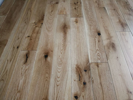 Tradition Solid Oak Flooring, Rustic, Lacquered, 90x18xRL mm
